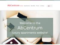 Frontpage screenshot for site: AbCentrum apartman (http://www.abcentrum.net)
