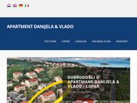 Frontpage screenshot for site: Apartmani Lopar Danijela & Vlado (http://www.apartmani-danijela-vlado.com)