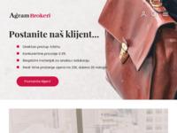 Frontpage screenshot for site: Agram Brokeri d.d. (http://www.agram-brokeri.hr)