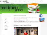 Frontpage screenshot for site: Medijana jezici d.o.o. škola stranih jezika (http://www.medijana.hr/)