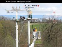 Frontpage screenshot for site: Građevinsko poduzeće niskogradnje - Kabel Mont (http://www.kabel-mont.hr)