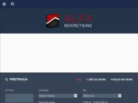 Frontpage screenshot for site: Agencija za nekretnine Alfa (http://www.alfanekretnine.hr)