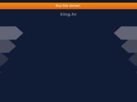 Frontpage screenshot for site: King računala (http://www.king.hr)