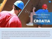 Frontpage screenshot for site: Summer Camp Croatia (http://campcalifornia.com/)