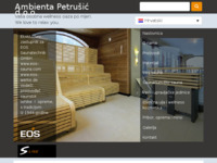 Slika naslovnice sjedišta: Ambienta Petrušić - Proizvodnja sauni, wellness opreme... (http://www.ambienta-petrusic.hr/)