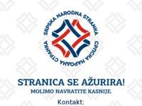 Frontpage screenshot for site: Srpska narodna stranka u Republici Hrvatskoj (http://www.sns.hr)