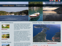 Frontpage screenshot for site: Otok Šipan - Šipanska Luka (http://www.island-sipan-insel.com)