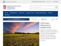 Slika naslovnice sjedišta: Ministarstvo poljoprivrede, šumarstva i vodnog gospodarstva (http://www.mps.hr/)