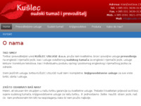Frontpage screenshot for site: (http://www.kuslec.hr)