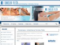 Slika naslovnice sjedišta: Tomislav Pleša - Fizikalna terapija i rehabilitacija, Zagreb (http://www.fizikalnaterapija-plesa.hr)