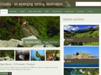 Frontpage screenshot for site: Hrvatska kao birdwatching destinacija (http://www.croatiabirding.com)