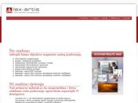 Slika naslovnice sjedišta: Lex-Artis d.o.o. informatičko savjetovanje (http://www.lex-artis.hr)
