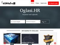 Slika naslovnice sjedišta: Oglasi.hr oglasnik - Besplatni veliki i mali oglasi (http://www.oglasi.hr)