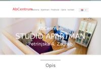 Frontpage screenshot for site: Apartmani Zagreb - AbCentrum (http://www.abcentrum.net/hr/studioapartman/)