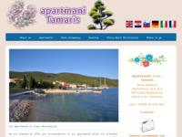 Frontpage screenshot for site: Apartmani Tamaris, Martinščica, Cres (http://www.apartments-cres.com.hr)