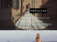 Frontpage screenshot for site: Salon vjenčanica Princess (http://www.vjencanice-princess.hr)