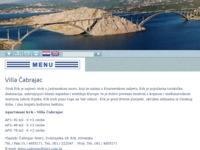 Frontpage screenshot for site: (http://www.apartmanikrk-cabrajac.hr)