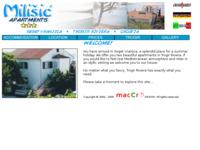 Frontpage screenshot for site: Milišić apartmani (http://free-st.htnet.hr/milisic/)