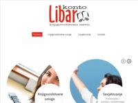 Frontpage screenshot for site: (http://www.konto-libar.hr)