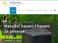 Slika naslovnice sjedišta: Generalni uvoznik Hydropool Industries Canada (http://www.hydropool.com.hr)