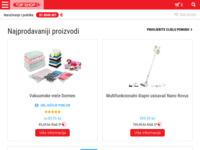 Frontpage screenshot for site: Top Shop Tv prodaja (http://www.topshop.com.hr)