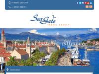 Frontpage screenshot for site: Turistika agencija Sea gate Trogir (http://www.sea-gate.net)