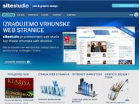 Frontpage screenshot for site: Site studio web produkcija (http://www.sitestudio.hr)