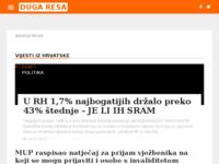 Slika naslovnice sjedišta: Internet portal - Grad Duga Resa (http://duga-resa.net/)