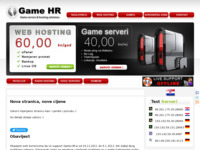 Frontpage screenshot for site: Game HR (http://www.game-hr.com)