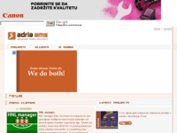 Frontpage screenshot for site: AdriaAMS (http://www.adria-ams.hr)