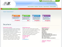 Frontpage screenshot for site: Fax.hr  Internet faks sustav u Hrvatskoj (http://fax.hr)