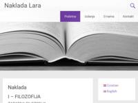 Frontpage screenshot for site: Naklada Lara (http://www.naklada-lara.com)
