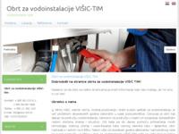 Slika naslovnice sjedišta: Vodoinstalacije Višić Tim (http://www.visic-tim.hr/)