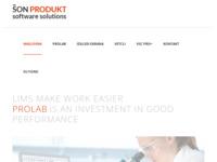 Frontpage screenshot for site: VetLab - program za laboratorijsko pretrazivanje uzoraka (http://www.son-soft.com/)