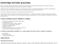 Frontpage screenshot for site: Kaliopa - estetski studio (http://www.studio-kaliopa.hr)