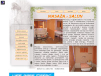 Frontpage screenshot for site: Masaža (http://www.masaza.biz)