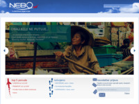 Frontpage screenshot for site: Nebo travel & events (http://www.nebo-travel.hr)