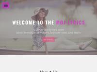 Frontpage screenshot for site: MojLyrics.com (http://www.mojlyrics.com)