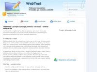 Frontpage screenshot for site: WebTest - provjera znanja pomoću računala - online edukacija (http://webtest.atspace.biz)