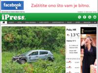 Frontpage screenshot for site: iPress.hr (http://www.ipress.hr)