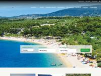 Frontpage screenshot for site: Kamp Kovačine (http://www.camp-kovacine.com)