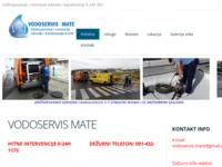 Slika naslovnice sjedišta: Vodoservis Mate (http://www.vodoservis-mate.com)