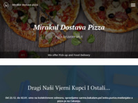 Frontpage screenshot for site: Pizzeria Mirakul -dostava pizza u Splitu (http://www.mirakul-pizza.com)