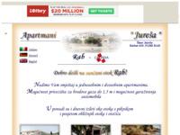 Frontpage screenshot for site: Apartmani - Jureša (http://juresa-apartmani.tripod.com/)