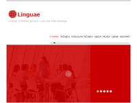 Frontpage screenshot for site: Linguae centar za strane jezike i usluge prevođenja (http://www.linguaecentar.hr)