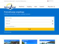 Frontpage screenshot for site: Adria Planet, Biograd na moru (http://www.adria-planet.eu)