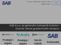 Frontpage screenshot for site: Sab d.o.o. (http://www.sab-daruvar.com)