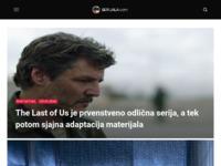 Frontpage screenshot for site: Serijala - Novosti i recenzije iz svijeta TV serija (http://www.serijala.com)