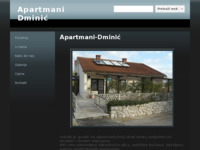 Frontpage screenshot for site: Apartmani Dminić (http://sites.google.com/site/apartmanidminic/ )
