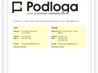 Slika naslovnice sjedišta: Podloga d.o.o. (http://podloga.hr)